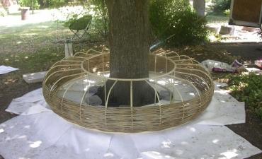 Création d'un banc circulaire