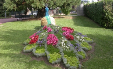 Le Paon de Chamalières : réalisation et installation au parc du mont Joli